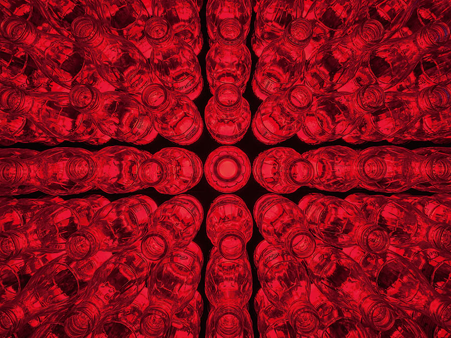 Acrylicize_Nikhilesh Haval - Custom Art Installation - Coca-Cola Bottle Wall - Close-Up Detail